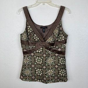 Laundry by Shelli Segal Floral Silk Tank Top Cami